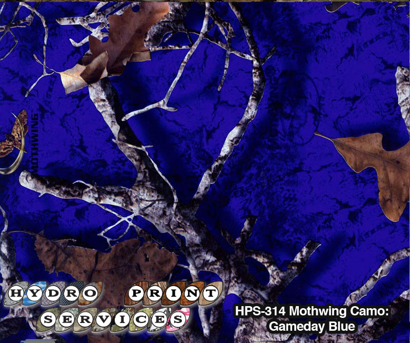 HPS-314 Mothwing Camo: Gameday Blue