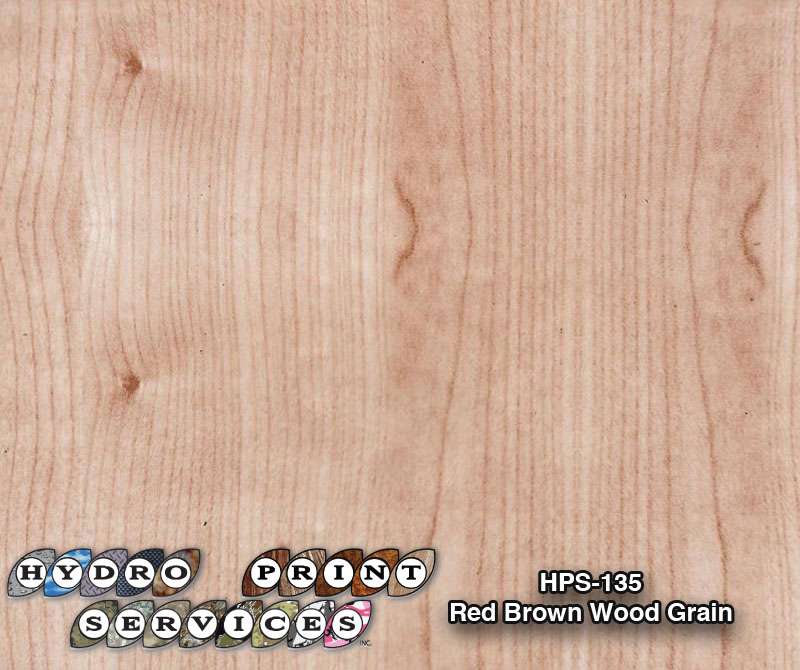HPS-135 Red Brown Wood Grain