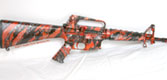 M16 Red Black & Silver Marble